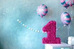 Decoratie voor de viering van de verjaardag van kinderen stock afbeelding