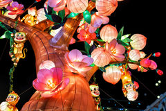 Decoratie voor het Chinese Nieuwjaar in Chinatown in Singapore Royalty-vrije Stock Foto's
