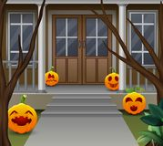 Decoratie voor het huis op Halloween-dag vector illustratie