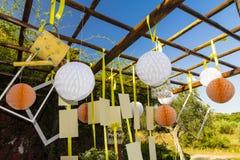Decoratie voor huwelijk Stock Foto
