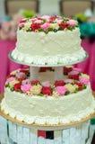 Decoratie voor huwelijkscake Stock Fotografie