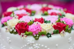 Decoratie voor huwelijkscake Royalty-vrije Stock Fotografie