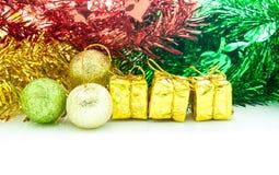 Decoratie voor Kerstmis en Gelukkig Nieuw jaar Stock Fotografie