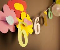Decoratie voor zesde verjaardag Stock Fotografie