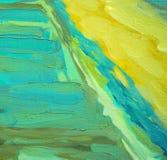 Decoratief abstract olieverfschilderij op canvas, illustratie vector illustratie