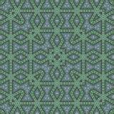 Decoratief abstract vierkant patroon voor tapijt, stof, druk Stock Foto