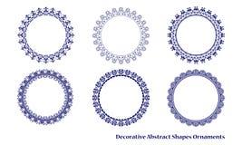 Decoratief abstract vormenornament Stock Afbeelding