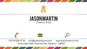 Decoratief adreskaartje Royalty-vrije Stock Fotografie