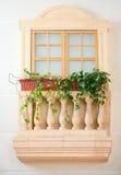 Decoratief balkon royalty-vrije stock foto's