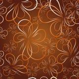 Decoratief behang met vlinder Stock Foto