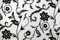 Decoratief behangpatroon in zwart-wit stock afbeelding
