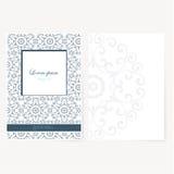 Decoratief blad van document met oosters ontwerp royalty-vrije illustratie