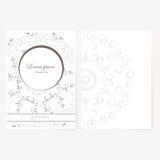 Decoratief blad van document met oosters ontwerp Stock Afbeeldingen