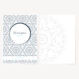Decoratief blad van document met oosters ontwerp Royalty-vrije Stock Afbeeldingen