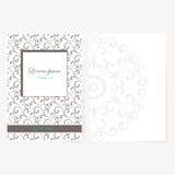 Decoratief blad van document met oosters ontwerp Royalty-vrije Stock Afbeelding