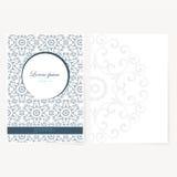 Decoratief blad van document met oosters ontwerp Royalty-vrije Stock Foto's