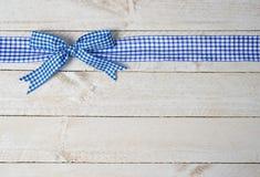 Decoratief blauw lint stock foto's