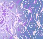Decoratief Blauw Wit Patroon vector illustratie