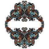 Decoratief bloei kader op wit Royalty-vrije Stock Foto