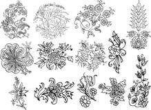 Decoratief bloei mofifs Royalty-vrije Stock Foto's