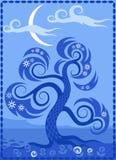 Decoratief bloei ontwerp Stock Foto