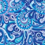 Decoratief bloemen naadloos patroon Stock Afbeeldingen