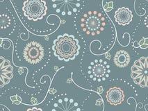 Decoratief bloemen naadloos patroon Stock Foto