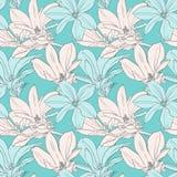 Decoratief bloemen naadloos patroon met bloemen jn stock illustratie