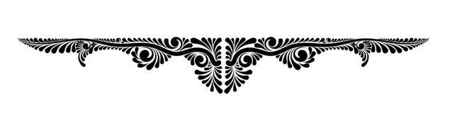 Decoratief bloemen vectormonogram Stock Afbeelding