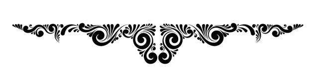 Decoratief bloemen vectormonogram Stock Fotografie