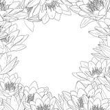 Decoratief bloemenframe royalty-vrije illustratie