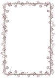 Decoratief bloemenframe Royalty-vrije Stock Afbeelding