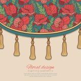 Decoratief bloemengordijn Royalty-vrije Stock Afbeelding