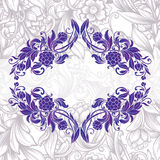 Decoratief bloemenkader Stock Foto's