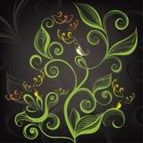Decoratief bloemenontwerp Vector illustratie Stock Afbeelding