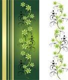 Decoratief bloemenornament voor kaart en frame vector illustratie