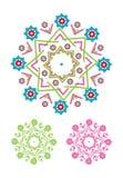 Decoratief bloemenpatroonmotief Royalty-vrije Stock Afbeeldingen