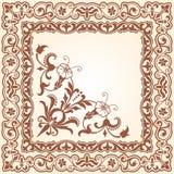 Decoratief bloemenwerkingsgebied Royalty-vrije Stock Afbeeldingen