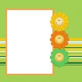 Decoratief bloemframe Stock Foto's