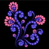 Decoratief bloemornament Stock Foto's