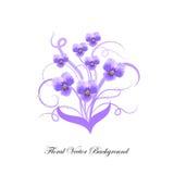 Decoratief boeket van violette bloemen royalty-vrije illustratie