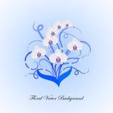 Decoratief boeket van witte orchidee royalty-vrije illustratie