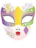 Decoratief Carnaval-masker vector illustratie