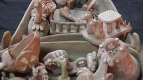 Decoratief ceramisch speelgoed stock footage