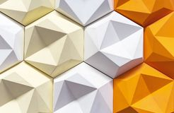Decoratief 3D paneel in een modern binnenland 3d geometrische achtergrond stock foto's