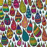 Decoratief Dalingen Naadloos Patroon Stock Afbeeldingen