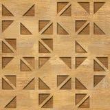 Decoratief driehoekig patroon - Binnenlandse muurdecoratie royalty-vrije illustratie