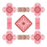 Decoratief elegant volksontwerp, geschikt voor groetkaarten, uitnodigingen, stoffen, enz. vector illustratie