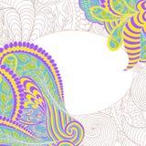 Decoratief element, kantgrens. Zachte kleuren. Vector Royalty-vrije Stock Fotografie