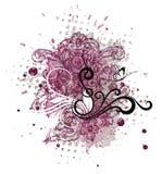 Decoratief element voor het creëren van de Dagprentbriefkaaren van Valentine ` s Stock Fotografie